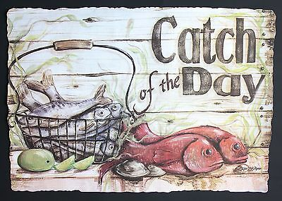 25 Pack Of Paper Placemats Catch Of The Day Design Free Shipping