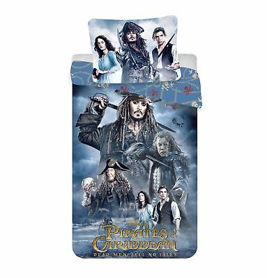 Pirates of the Caribbean No Tales Single Duvet Cover 100% Cotton By BestTrend