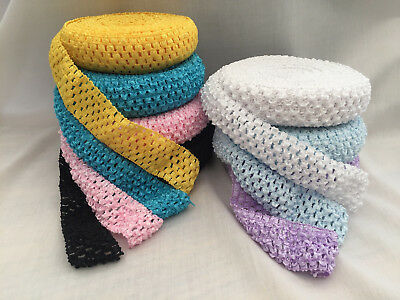 Crochet Tutu Elastic By The Metre - Waistband Headband Soft Tops Fairy 1.5""