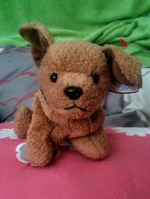 "Ty Beanie Babie ""tuffy""   Retired Pvc. With Errors !"