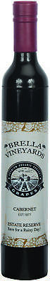 Brella Vineyards Cabernet Wine Bottle Hidden Umbrella Gift Novelty - Burgundy
