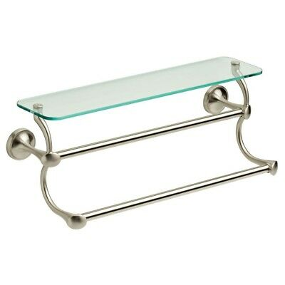 70525 Bn Celice Bath 24 Double Towel Bar Brushed Nickel Finish
