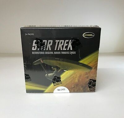 Star Trek Remastered Original Series - Sealed Trading Card Hobby Box - TOS 2011