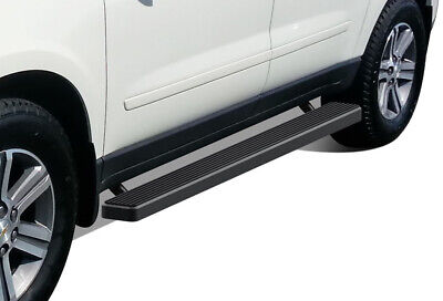 """iBoard Running Boards 5"""" Matte Black Fit 07-17 Chevy Traverse/07-16 GMC Acadia"""
