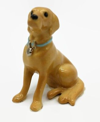 Vintage Hagen Renaker Yellow Labrador Retriever Dog Miniature Animal Figurine