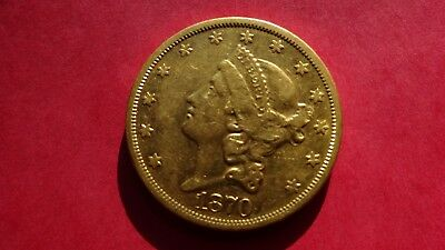 1870S $20 Liberty Gold Coin