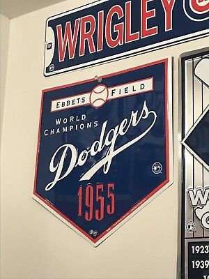 Brooklyn Dodgers MLB Baseball Vintage Look Ebbets Field Tin Sign Bar Pub