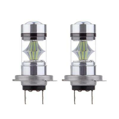 2pcs H7 100W LED 8000K Ice Blue Foglight feux de jour Ampoules