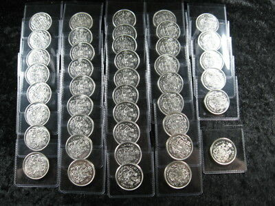 42 old world SILVER coin lot CANADA 50 cents 1956 1958 1959 1961 1964 FREE S&H