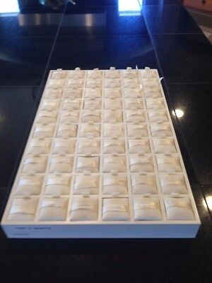 Authentic Pandora Jewelry Store Counter Display Tray Pad Plexi Gold Retail 60 ct