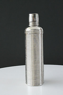 Antique Art Deco Skyscaper Design Ribbed Chrome The Icy Hot Bottle Co. 1908-09