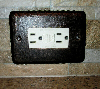 Metal Single Rocker, Switch Plate Cover, Old World, Tuscan, Hacienda, Rustic
