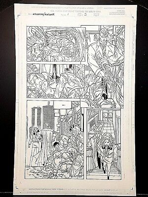 Marvel Wolverine Punisher #1 page 05 Original Art Work by Pat Lee!