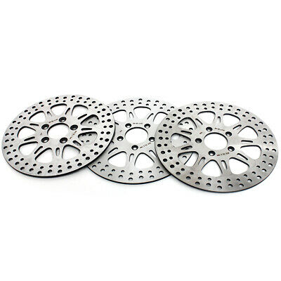 Front Rear Brake Disc Rotors Harley Touring 1450 FLTR FLHT XL883R 1200R S 11.5''