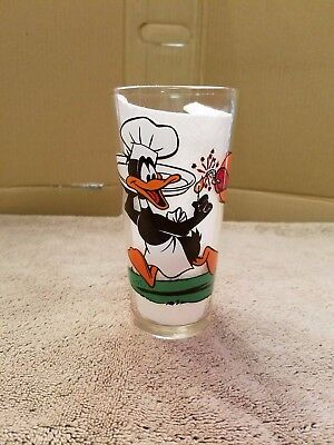 Daffy Duck and Taz Looney Tunes Glass 1976 Warner Bros. Pepsi Vintage