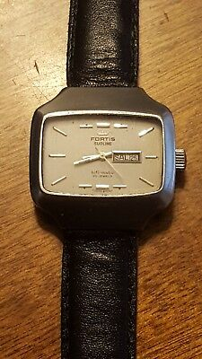 Vintage Fortis sublime hifi-matic automatic men's Watch Swiss Made 25j day date