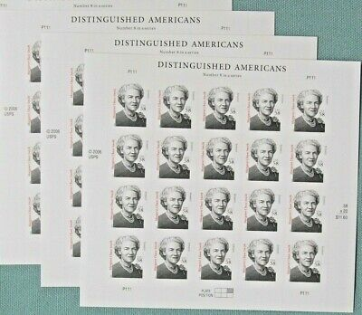 New 100 (5 x 20)  MARGARET CHASE SMITH 58 ¢ Cent US Postage Stamps Scott # 3427