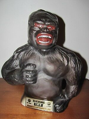 Vintage Jim Beam King Kong Decanter Kentucky Straight Bourbon Whiskey~Empty~1976