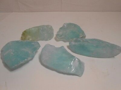 Aquamarine or Blue-Green Slag Cullet or Chunk Glass