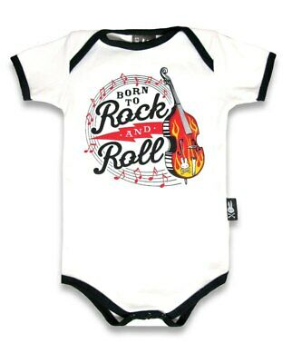 Six Bunnies Born to Rock n Roll Baby   Romper