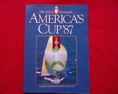 1987 America's Cup Official Programme, Royal Perth Yacht Racing Club, Ben Lexon