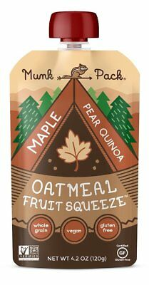 Munk Pack Oatmeal Fruit Squeeze | Maple Pear Quinoa, Ready-to-Eat Oatmeal On The