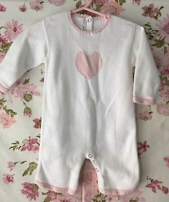 Ce ce Co Cececo Baby Girls 3-6 Months White Knit Romper