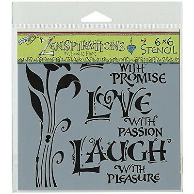 The Crafter 's Workshop 6x 6Live Love Laugh Schablone, schwarz/wei