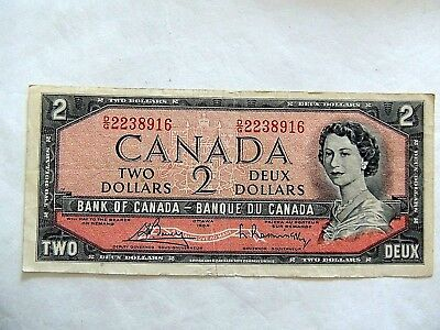 1954 Canada Two ($2) Dollar Uncirculated Note