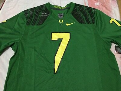 Men's Nike Ducks Replica YNDESTAD #7 Apple Green Jersey- Large, New