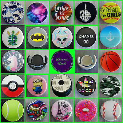 2 PIECE SET 3M Pop Up Socket & Car Mount Phone Grip Holder 87 Styles Stand