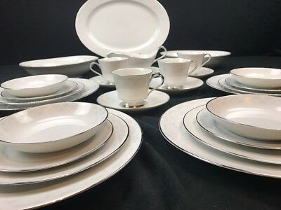 VINTAGE HEINRICH H&C Co SELB BAVARIA CHINA 6 PIECE SETTING FOR 4 WITH SERVICE