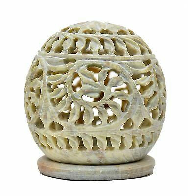 Artist Haat Tealight Candle Holder Sphere Shaped Tendril Openwork