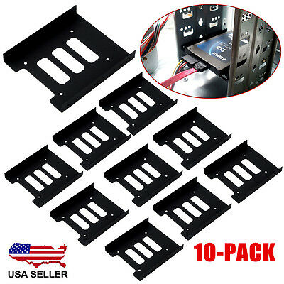 "PC Metal 2.5/"" to 3.5/"" SSD to HDD Mounting  Adapter Bracket Hard Drive Holder ZL1"