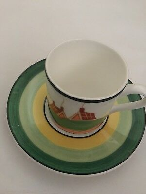 Clarice Cliff Cafe Chic Wedgewood Coffee Set Of 8