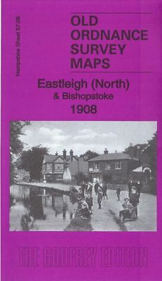 Old Ordnance Survey Map Eastleigh North Bishopstoke 1908 Barton Leigh Road