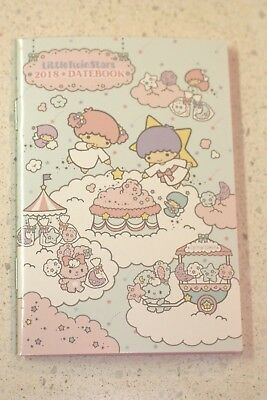 Little Twin Stars Sanrio Date book Schedule 2018 Kawaii small Japan New F/S
