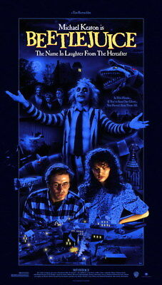 """003 BeetleJuice - Thriller Horror USA Classic Movie 14""""x24"""" Poster"""