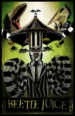"""001 BeetleJuice - Thriller Horror USA Classic Movie 14""""x21"""" Poster"""