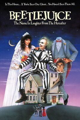 "007 BeetleJuice - Thriller Horror USA Classic Movie 14""x21"" Poster"