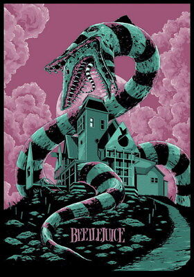 "006 BeetleJuice - Thriller Horror USA Classic Movie 14""x20"" Poster"
