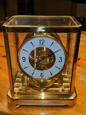 1970'S JAEGER LECOULTRE ATMOS MANTLE 528 PERPETUAL MOTION CLOCK 394109 running