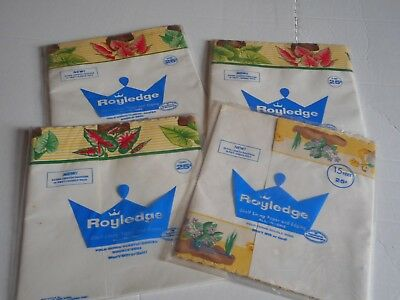 Vintage Lot of 4 Packages of Royledge Shelf Liners