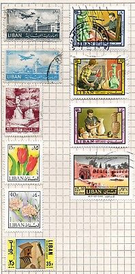 Stamps, Lebanon 10 stamps fine/very fine mounted