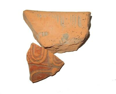 Roman Samian ware small Makers mold, matching pottery piece Non UK Find COA