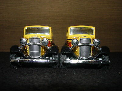 """5"""" Kinsmart 1932 Ford 3-Window Coupe Diecast Model Toy Car 1:34 - Yellow & Black"""