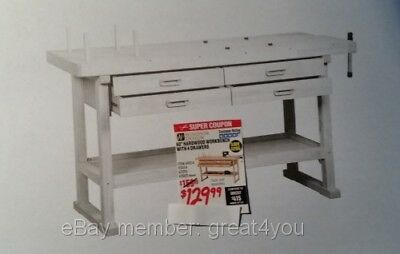 "HARBOR FREIGHT TOOLS coupon ..60"" Workbench   ... Coupon Only"
