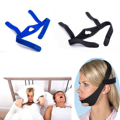 Anti-Snoring Chin Strap Mask Aid Belt Snore Stop Stopper Sleep Apnea Support
