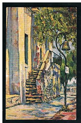 Elmer Schmidt Art-Mission Old Choir Stairway & Camino Real Bell, San Gabriel CA