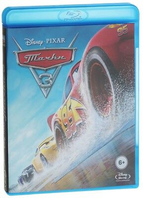 *NEW* Cars 3 (Blu-ray, 2-disc set, 2017) English,Russian,Kazakh,Czech,Arabic